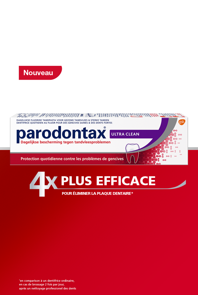 Dentifrice parodontax Ultra Clean pour gencives